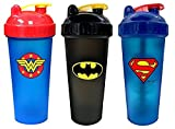 PerfectShaker Hero Series Shaker, Batman, Superman, and Wonder Woman Combo