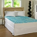 Simmons Beautyrest Comforpedic Loft from Beautyrest 3-inch Big Loft Gel Memory Foam Mattress Topper Blue Queen