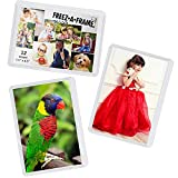 12 Pack Magnetic Wallet Picture Frames Holds 2 1/2' X 3 1/2' Pocket Photo for Refrigerator by Freez-A-Frame Made in the USA