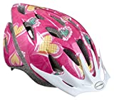 Schwinn Thrasher Lightweight Microshell Bicycle Helmet Featuring 360 Degree Comfort System with Dial-Fit Adjustment, Child, Pink/Hearts
