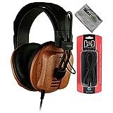 Fostex T60RP Premium Mahogany Semi-Open RP Headphones w/Polish Cloth and Extens