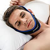 SnoreeZ(TM) Anti Snore Chin Strap - The #1 Ranked Snore Solution - The All Natural Sleep Aid For Instant Snore Relief - Comfortable, Easy To Wear, And Adjustable