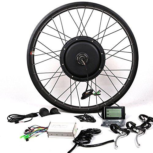 theebikemotor 48V1500W Hub Motor Electric Bike Conversion Kit + LCD+ Disc Brake