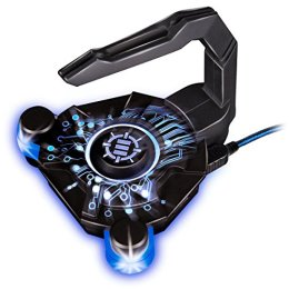 Mouse Bungee by ENHANCE - GX-B1 Mouse Cord Bungee Holder and Active 4-Port USB Hub with Blue LED Lighting - Boost Gaming Accuracy By Eliminating Cable Drag - for Dota 2 , League of Legends and More