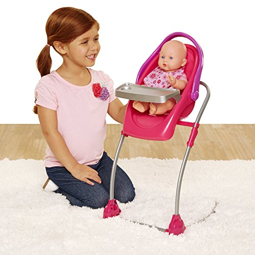Chicco 4-in-1 Eat & Swing Highchair for Baby Dolls, Pink [Amazon Exclusive]