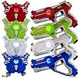 Play22 Laser Tag Sets Gun Vest - Infrared Laser Tag Set 4 Guns 4 Vests - Laser Tag Gun Toys for Indoor Outdoor - Laser Tag Game Set Best Gift Boys Girls - Original