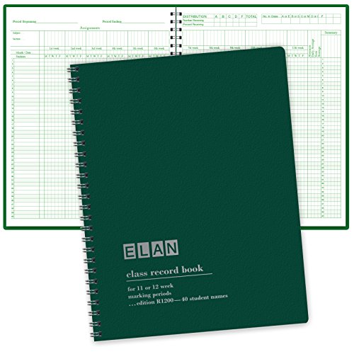Class Record Book for 12 Weeks. 40 Names. Large Blocks (R1200)