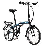 Schwinn Adapt 2 Folding Bike, 20-Inch Wheels, 8-Speed, Bike Matte Charcoal