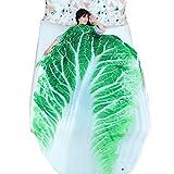 Getime 3D Fruit Vegetables Funny Blanket Bedding Banana Apple Potato Shaped Summer Quilt Cute Comforter Washable Light Quilt