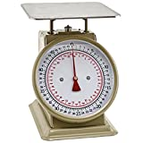 Winco SCLH-50, 50-LBS Multifunction Kitchen and Food Scale, Stainless Steel Mechanical Measuring Commercial Grade Portion-Control Scales
