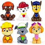 Paw Patrol Miniature Figures Set of 6 - Rubble, Chase, Skye, Zuma, Rocky and Marshall for Age 3+ (Set of 6 Figures) by Nickelodeon