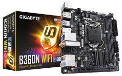 Gigabyte B360N WIFI LGA1151/Intel/B360/CNVi 802.11ac Wave2 2T2R Wi-Fi/Mini ITX/DDR4 Motherboard