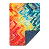 Rumpl The Printed Puffy | Outdoor Down Camping Blanket for Traveling, Picnics, Beach Trips, Concerts | Geo Print, Throw