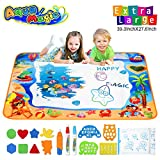 Hommate Water Doodle Mats Drawing Mat Multicolor Large Size 39.3 x 27.6 Inch Sea World Educational Learning Birthday Toys Gifts for 2 3 4 Years Old Girls Boys Tolddlers Kids