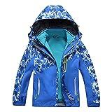 Valentina Boys Girls Outdoor Winter Two-Piece Coat 3-1 Children Thicken Velvet Detachable Warm Quilted Jacket