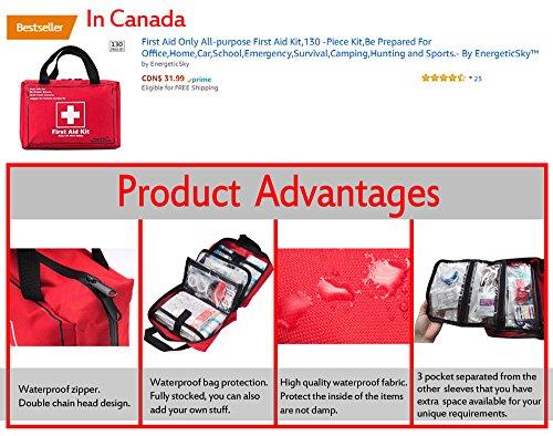 Songwin Botiquín de Primeros Auxilios de 130 artículos,Survival Tools Mini Box -Impermeable Bolsa Médica para el Coche,Hogar,Camping,Caza,Viajes,Aire Libre o Deportes,Pequeño Y Compacto. 1