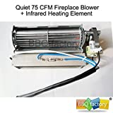bbq factory Replacement Fireplace Fan Blower + Heating Element for Heat Surge Electric Fireplace