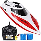 RC Boat High Speed 25+ MPH Remote Control Boat for Kids & Adults, INTEY Self Righting Double Waterproof Lake Pool Boat Toys for Boys or Girls
