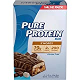 Pure Protein High Protein Bars, S'mores, 1.76 Ounce, 6 Count (Pack of 3)