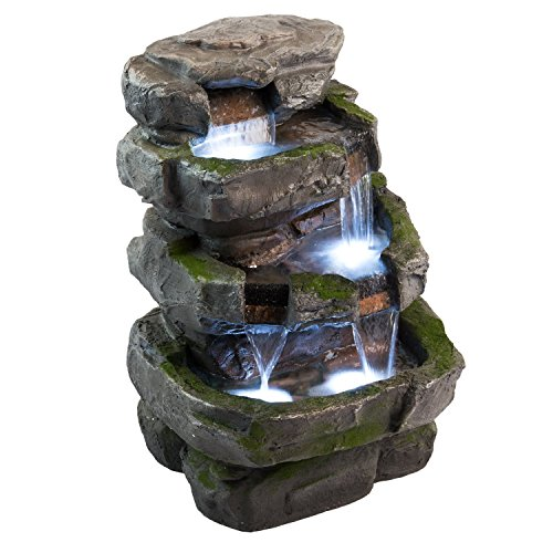 Wilson-Rock-Fountain-Stunning-Outdoor-Water-Feature-for-Gardens-Patios-Weather-Resistant-wLED-Lights-Pump