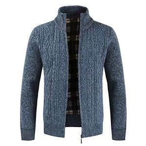 Fashion G-Real Men's Shawl Collar Cardigan Sweater Button Front Solid Knitwear