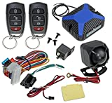 InstallGear Car Alarm Security & Keyless Entry System, Trunk Pop with Two 4-Button Remotes