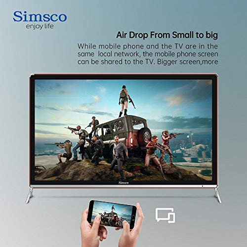 """Simsco 80 cm (32 Inches) HD Ready Smart Android LED TV S32""""ST (Gold And Black) (2020 Model) 7"""