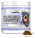 NEXPAW Probiotics for Dogs Digestive Health - Eases Diarrhea, Gas, Bloating, Constipation, Upset Stomach, Vomiting - Safe, Natural Canine Probiotic Gut Support - 120 Wheat-Free Soft Chews Dogs Love