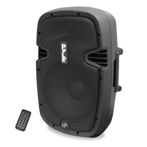 Pyle Powered Active PA Loudspeaker Bluetooth System 10 Inch Bass Subwoofer Monitor Speaker and Built in USB for MP3 Amplifier - DJ Party Portable Sound Equipment Stereo Amp Sub for Concert Audio or Band Music PPHP1037UB