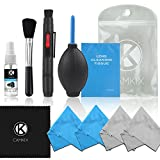 CamKix Professional Camera Cleaning Kit for DSLR Cameras (Canon, Nikon, Pentax, Sony) - Double Sided Lens Cleaning Pen / Alcohol Free Optical Lens Cleaning Fluid / 50 Sheets Cleaning Tissue / Brush / Blower