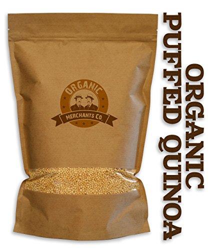 Organic Merchants Organic Puffed Quinoa, Kosher, Non Gmo, 1lb Bag
