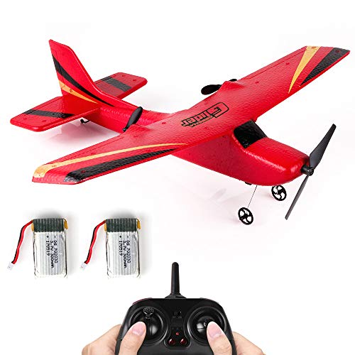 RC Airplane Z50 RTF RC Plane 2.4Ghz 2CH 6-Axis Gyro EPP Remote Control Airplane Glider 340mm Wingspan with 2pack LiPo Batteries