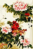 YEESAM ART DIY Paint by Numbers for Adults Beginner Kids, Chinese Peony Flowers 16x20 inch Linen Canvas Acrylic Stress Less Number Painting Gifts (Flowers, Without Frame)