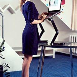 51GpiKQMPoL - Lavolta Ergonomic Laptop Table Desk Breakfast Bed Tray Book Holder - Black