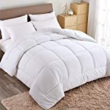 WARM HARBOR All Season Down Alternative Quilted Comforter and Duvet Insert - Luxury Hotel Collection Premium Lightweight (King, White)