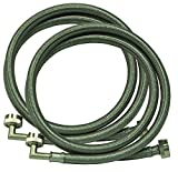 Eastman 48377 Braided Stainless Steel Washing Machine Hose with 90-Degree Elbow, 5 ft 1-Pair