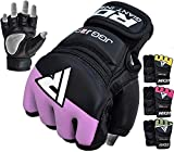 RDX Kids MMA Gloves Grappling Martial Arts Sparring Punching Bag Junior Cage Fighting Youth Maya Hide Leather Mitts Children Combat Training