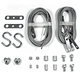 Ideal Security Inc. SK7248 Garage Door Replacement Set 2 Extension 2 Safety Cables