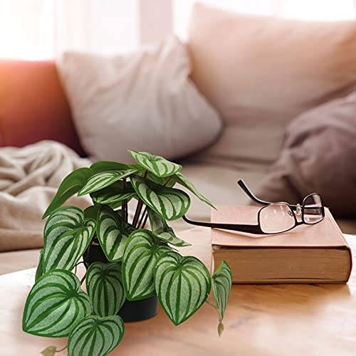 LUBERDUSH Mini Fake Potted Plants Small Artificial Plastic Greenery Faux Plant for Home Room Office Desk Décor Indoor 3 Packs