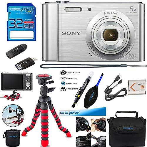 Sony Cyber-Shot DSC-W800 Digital Camera (Silver) + Deal-Expo Accessories  Bundle - Various Information