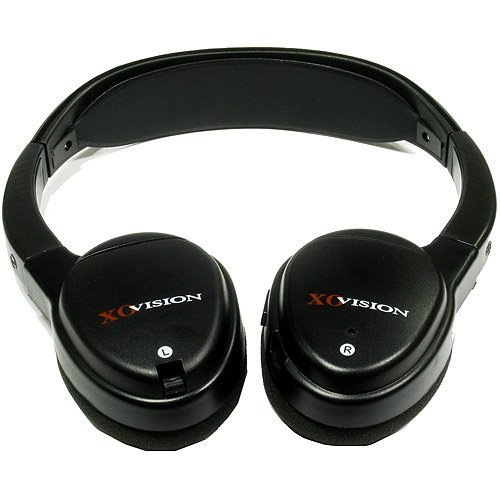 XO Vision IR620 Universal IR Infrared Wireless Foldable Headphones for in-Car TV, DVD, Video Listening