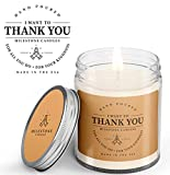 Milestone Candles Thank You Clear Jar Candle 7.5 oz Glass, Made in The USA, Soy Blend, Cotton Wick