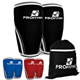 ProFitness Knee Sleeve (Pair) Squat Knee Support & Compression for Powerlifting, Weightlifting, Cross Training WOD, Bodybuilding – Extra Thick 7mm Neoprene Knee Sleeves – Both Men & Women