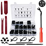 LEICESTERCN Retainer Clips Fasteners Kit Door Trim Panel with Removal Tools Durable Bumper Clips Push Pin Plastic Rivets Universal for Car Automotive