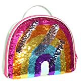 IAMGlobal Insulated Mermaid Lunch Box, Reversible Sequin Lunch Tote Bag, Kids Lunch Box Insulated Lunch Bag For Girls Boy