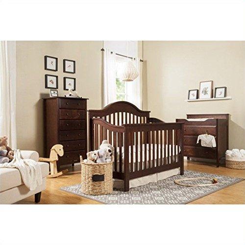 DaVinci Jayden 4-in-1 Convertible Wood Baby Crib with Toddler Rail in Espresso