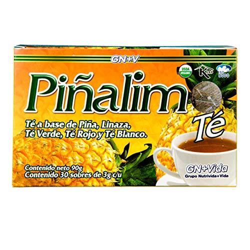 SmileMore Pinalim Tea/Te de Pinalim Mexican Version- Pineapple, Flax, Green Tea, White Tea - 30 Day Supply 2
