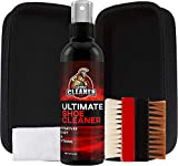 Ultimate Shoe Cleaner Travel Kit By Combat Cleaner | Shoe Cleaner + Premium Hard Brush + Premium Soft Brush + Large Hard Travel Case| Used for Sneakers, Tennis Shoes, Leather, Suede