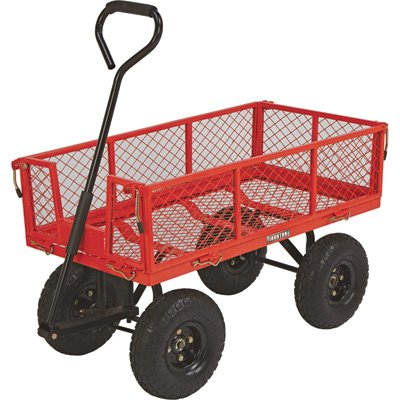 Ironton Steel Cart, 34in.L x 18in.W, 400-Lb. Capacity