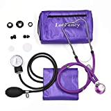 Aneroid Sphygmomanometer and Stethoscope Kit, LotFancy Manual Blood Pressure Monitor with Adult Cuff (10-16') and Carrying case